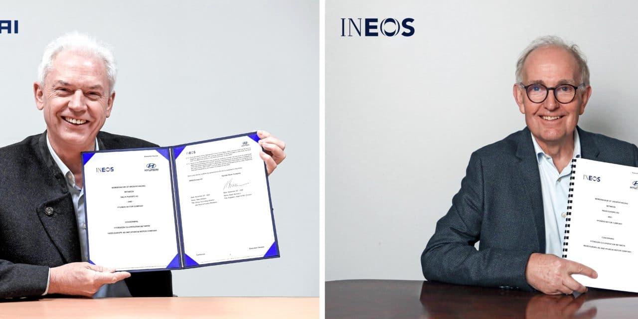 Hyundai Motor Company and INEOS Partner on Hydrogen Technology Development