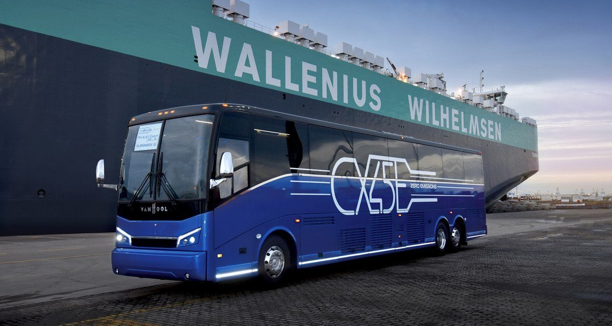Van Hool Ships First CX45E to the U.S.