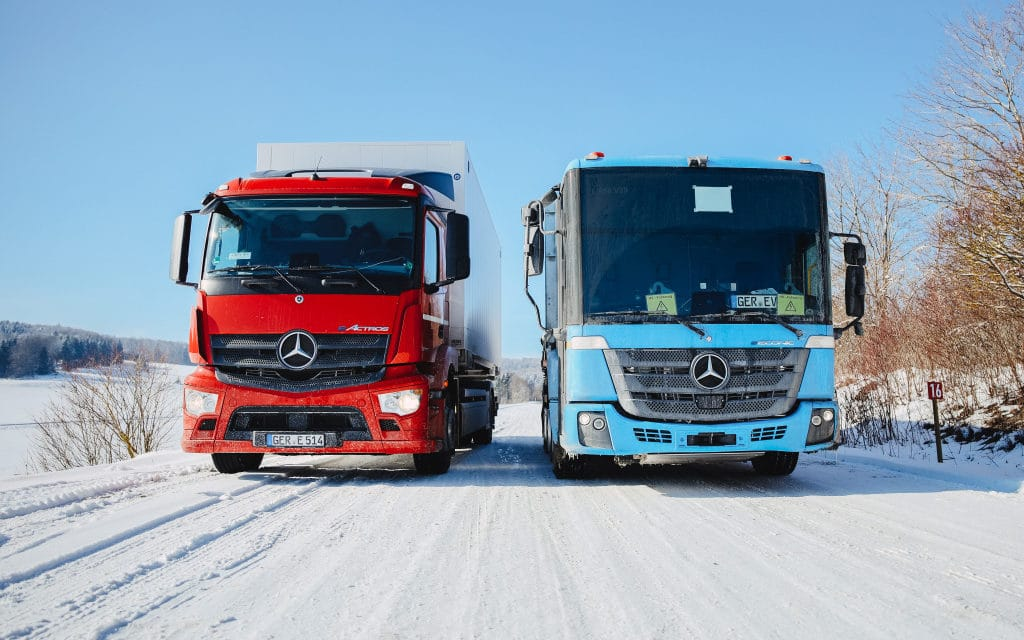Winter Testing: eActros and eEconic Battle Jack Frost