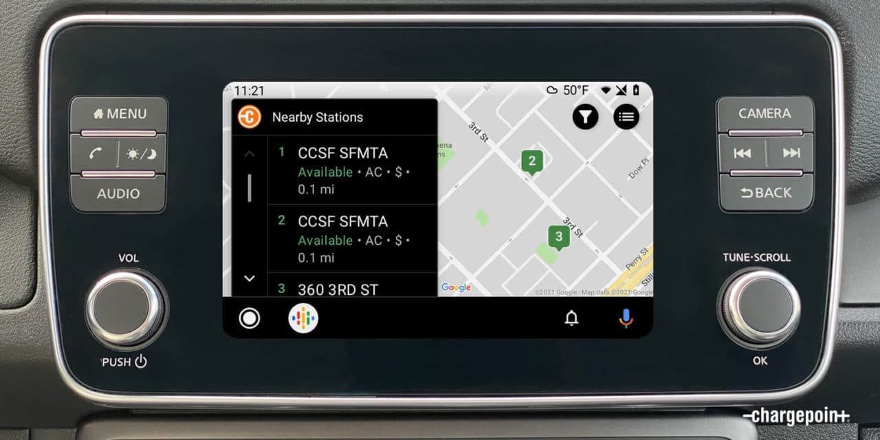 ChargePoint Enhances EV Driver Experience with Android Auto Integration