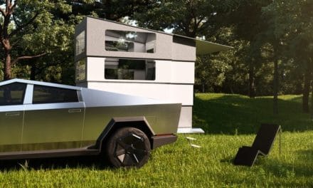 CyberLandr, Disappearing Camper for Tesla Cybertruck