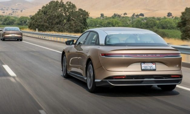 Lucid Air Officially EPA-Rated at 520 Miles of Range