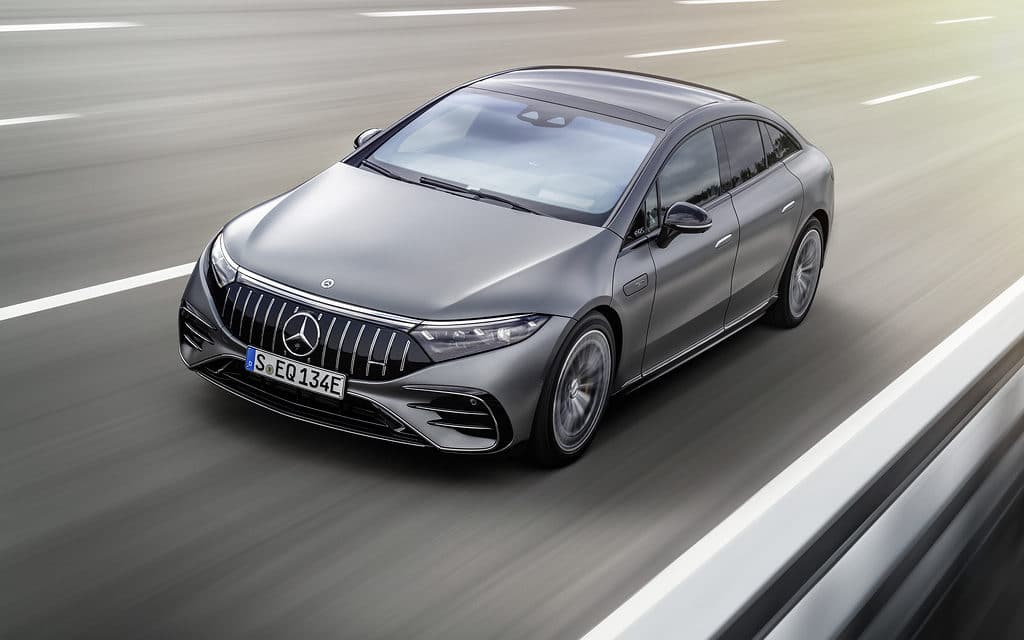 The new Mercedes-AMG EQS 53 4MATIC+ with all-electric drive system